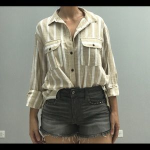 Urban Outfitters Linen Button Down Shirt